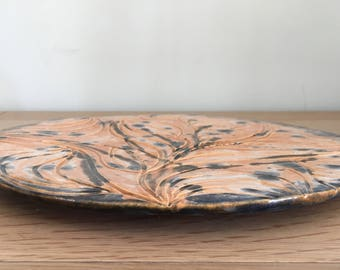 Ceramic Plate / Platter Hand Carved