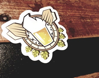 """Beer and Jivay"" logo sticker (official) X 3"