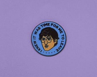Louis Theroux hard enamel pin /// lapel button badge British television documentary funny quote political pins badges gift uk