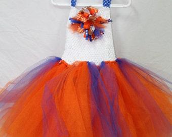 Florida Gators, Florida, Gators, girl clothes, girls clothes, girl dress, girls dress, tutu dress, pageant dress, Gator, orange, blue, tutu