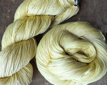 Naturally Dyed with Goldenrod Silk Heavy Lace Yarn - 2017