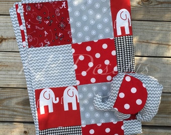 One of a Kind Baby or Toddler Alabama Quilted Blanket Gift Sets