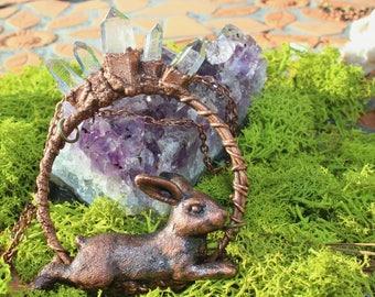 Crystal Rabbit Necklace