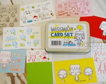 60 Sheets Missma Cards in Tin Box - Korean Card Set - Tin Box - Collecting Box - MR0006
