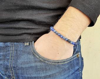 Sodalite Bracelet, Gemstone Bracelet, Mala Bracelet, Prayer Beads, Men Bead Bracelet, Men Mala Bracelet, Yoga Bracelet, Spiritual Bracelet