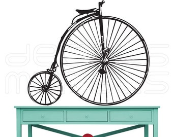 Wall Decals VICTORIAN BICYCLE Vinyl art wall stickers interior decor by Decals Murals 28x32
