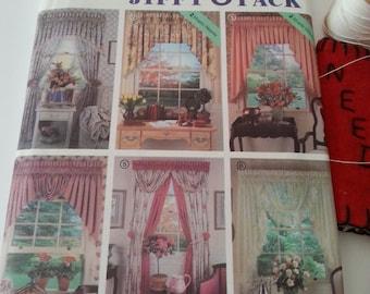 Window covering Drapes Curtains pattern retro Simplicity 7946 Vintage Set Dec Theatre Screen