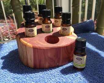 Essential Oil Holder Display Stand (7 Bottles)