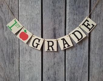 grade banner, classroom decorations, school banner, teacher banner, 1st day of school, teacher gifts, grade sign, classroom sign, school