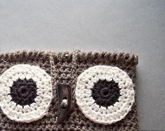 Crochet Pattern, Crochet Owl iPad Case Pattern, Crochet Tablet Case, Easy Crochet Pattern, Owl Tablet Case Pattern, Owl Galaxy Case Pattern