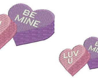 NeedleUp - Candy Hearts embroidery design