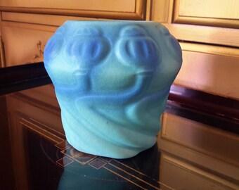 Van Briggle Pottery POPPY Vase Ming Blue Design No. 21 Colorado Springs