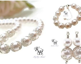 Wedding Jewelry Set Swarovski Pearl Bridal Jewelry Set FREE Gift Packaging Elegant Jewelry Pageant Jewelry Prom Jewelry