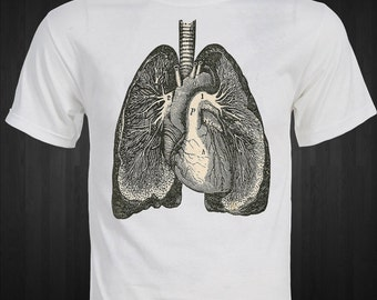HEALTHY RETRO LUNGS  T-Shirt Medical Anatomy Doctor Dr. unique