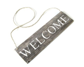 Reclaimed Wood Welcome Sign - Rustic Decor