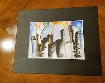 Mini watercolor paintings