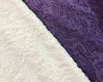"""Cuddle """"Minky"""" Fabric - Paisly - BTY"""