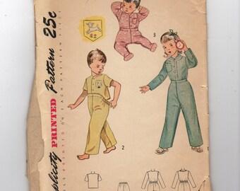 Vintage Simplicity Pajamas Pattern