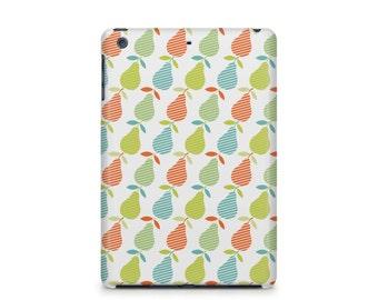 Pear pattern iPad case, fruit, retro, Apple iPad hard shell case, ipad Mini, ipad Air, iPad 2,3,4