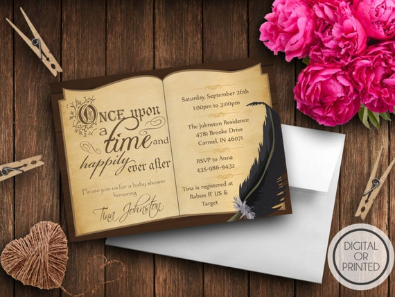Story book baby shower invitation book themed baby shower filmwisefo