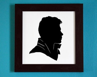 The Originals - Klaus Mikaelson - Silhouette Portrait Print