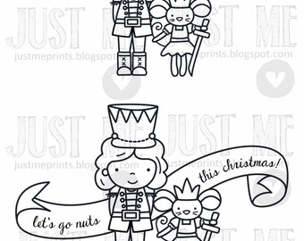 Nutcracker Sweet digital stamp