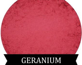 GERANIUM Matte Pink Red Eyeshadow