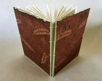 Fern Coptic Stitch Notebook