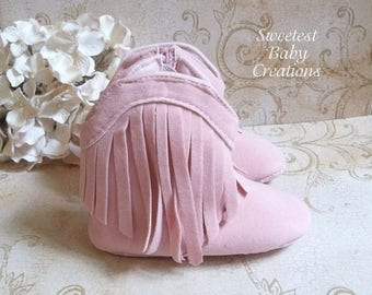 Pink Cowgirl Baby Boots, Moccasin Boots Baby, Cowgirl First Birthday Outfit, Baby Girl Cowboy Boots, Baby Girl Cowgirl Boots