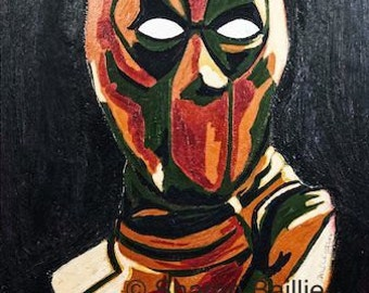Deadpool A3 print of original artwork