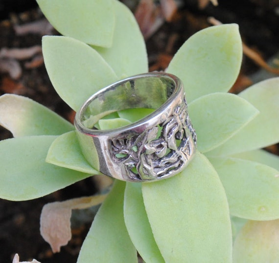 Sterling silver ring - woman ring - vintage ring - big ring - vintage jewelry - sterling silver jewelry