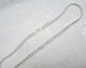 Bridal Belt Sash, Thin Bridal Sash,  Crystal Rhinestone Wedding Belt,  Bridesmaid Belt, Bridesmaid Gift,  Best Friend Bridal 112SA