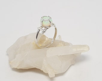 Champagne cork design Coober Pedy Crystal Opal Ring 058A