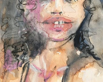 Original Fine Art Watercolor / Krissie