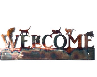 Six Pack of Cats Welcome Sign