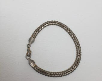 Vintage Chunky gold plated chain bracelet