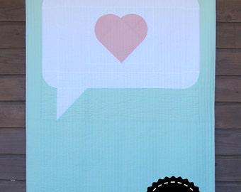 PDF Speak Love Quilt Pattern Digital Download