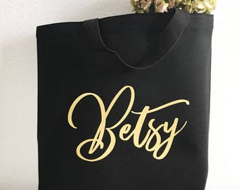 Bridal Party Tote Bag - Bridesmaid Tote Bag - Canvas Tote Bag - Gold Foil Tote - Wedding Tote Bag - Bridesmaid Gift - Bridal Party Favor