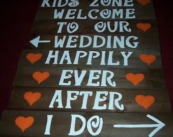 9 Lg rustic wedding signs /  barn wedding / i do we did sign / personalized signs / reception signs / happily ever after sign / custom signs