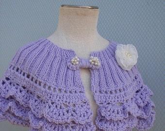 Bridal shawl, wedding accessories, bridal accessories, bridesmaid gift, knitting shawl, wedding wrap, handmade flower, summer wedding, shawl