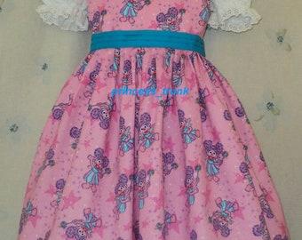 NEW Handmade Sesame Street Abby Cadabby Pink Dress Custom Size