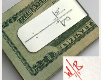 Your Handwriting Engraved | Personalized Money Clip | Groomsman Gifts | Aluminum Custom | Signature Engraved