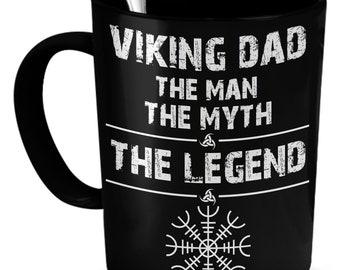 Viking dad helm of awe mug