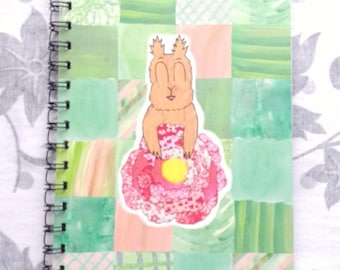Happy among the roses A5 notebook