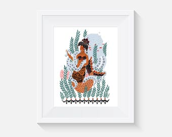 Queen Of Coralia Art Print