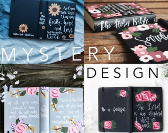 MYSTERY DESIGN • Custom Hand Painted Bible | Journaling Bible