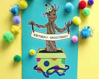 Birthday Groot card