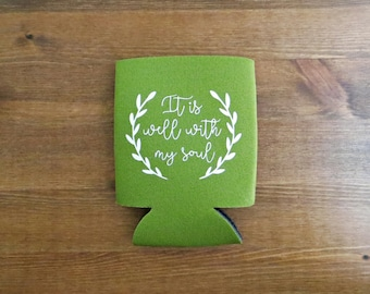 It Is Well With My Soul (Hymn) Beverage Insulator - Choose Your Color