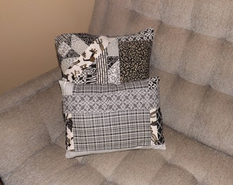 Black and White Collage Pillows