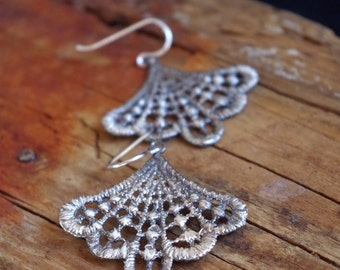 Lace Earrings Statement Jewelry Dangle Earrings Romantic Bridal Jewelry Gifts for her Bohemian